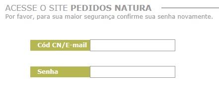 Site de pedido natura