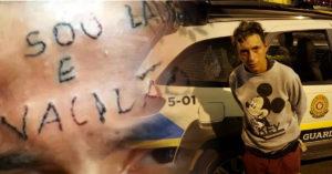 """""""Eu sou ladrão e vacilão"""" saiba como está o rapaz que teve a testa tatuada"""